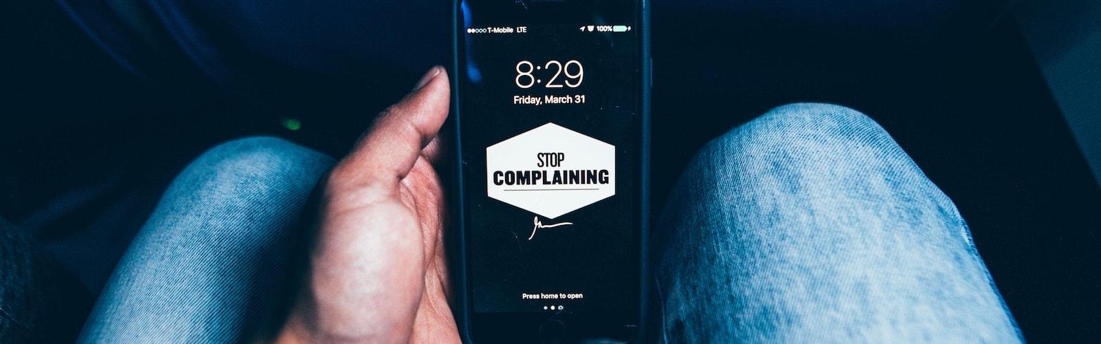 ¿Vives o te quejas?